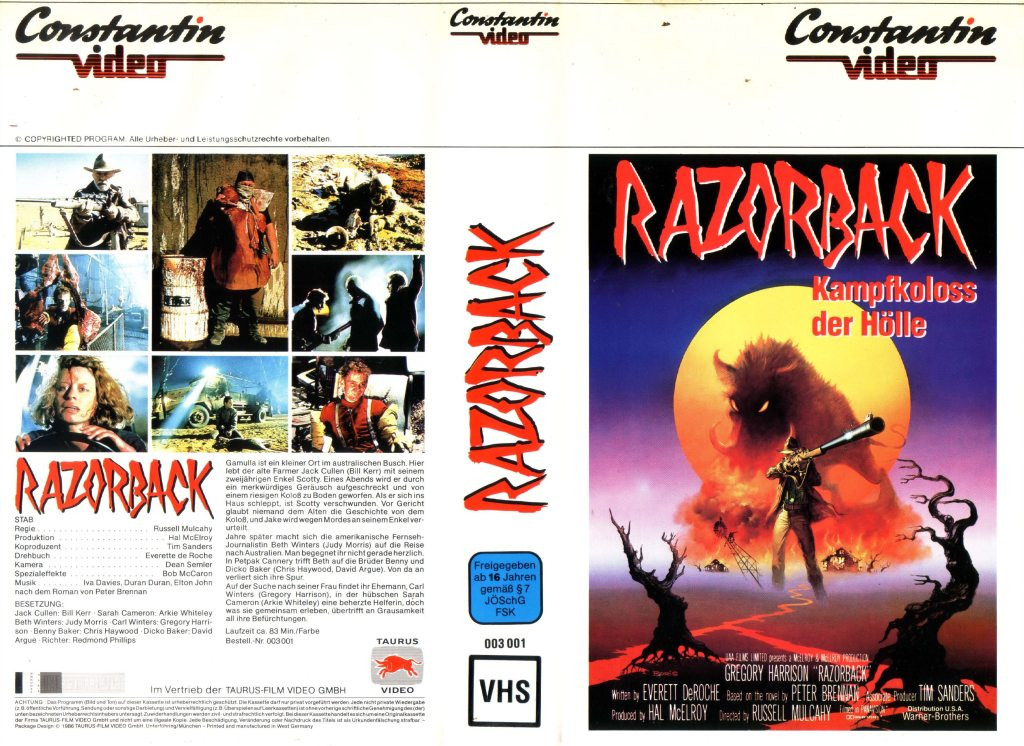 Razorback (1984) german vhs cover by Boris Vallejo