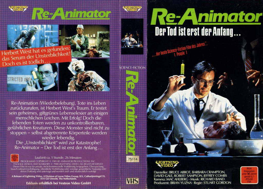 Re-Animator (1985) german vhs