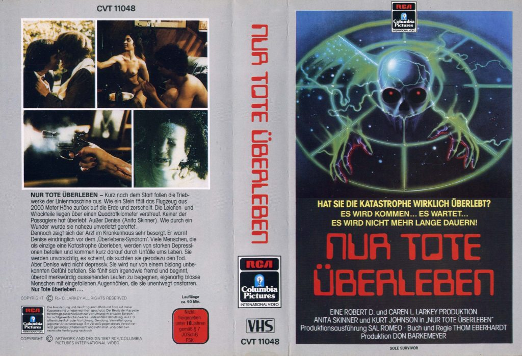 Sole Survivor (1984) german vhs cover by Renato Casaro