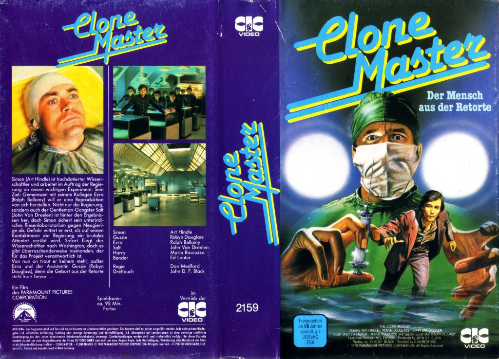 The Clone Master (1978) german vhs