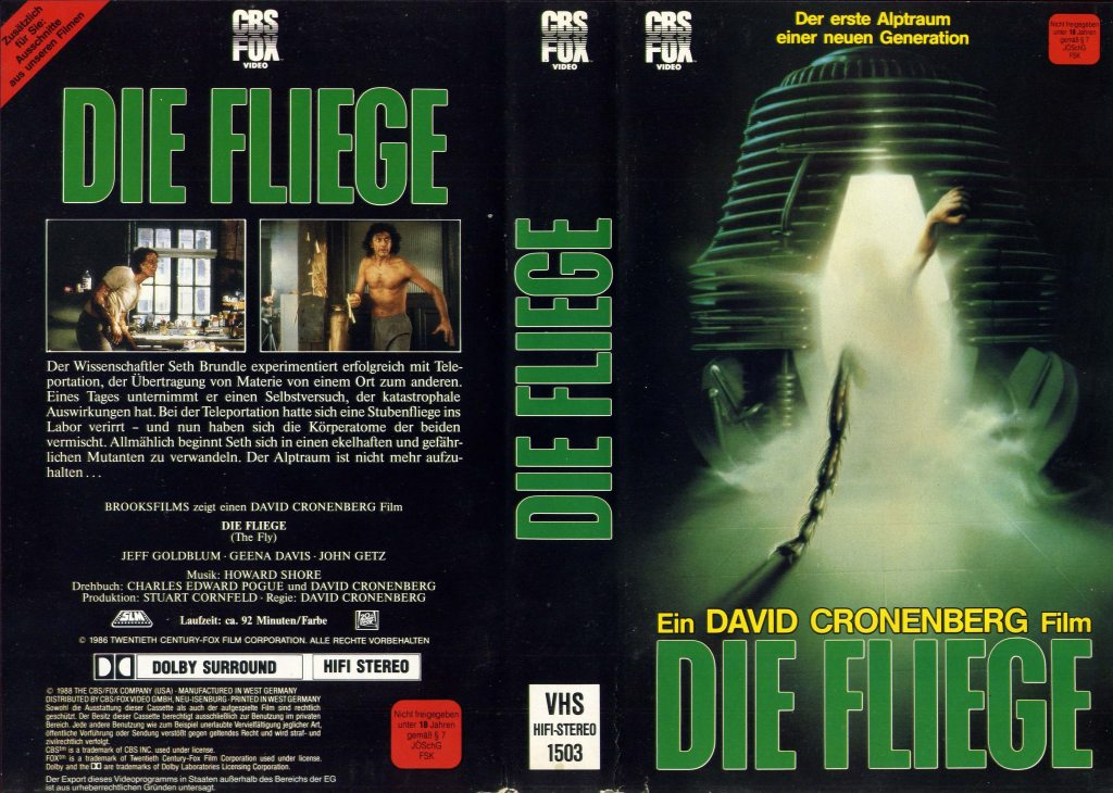The Fly (1986) german vhs