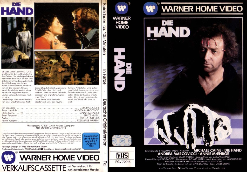 The Hand (1981) german vhs
