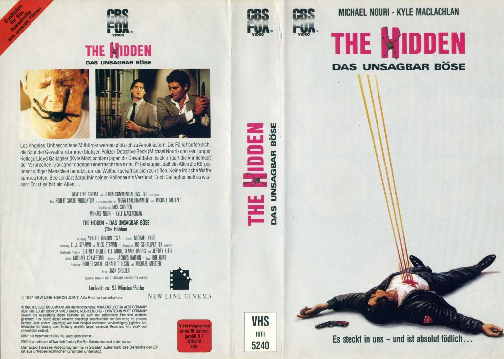 The Hidden (1987) german vhs