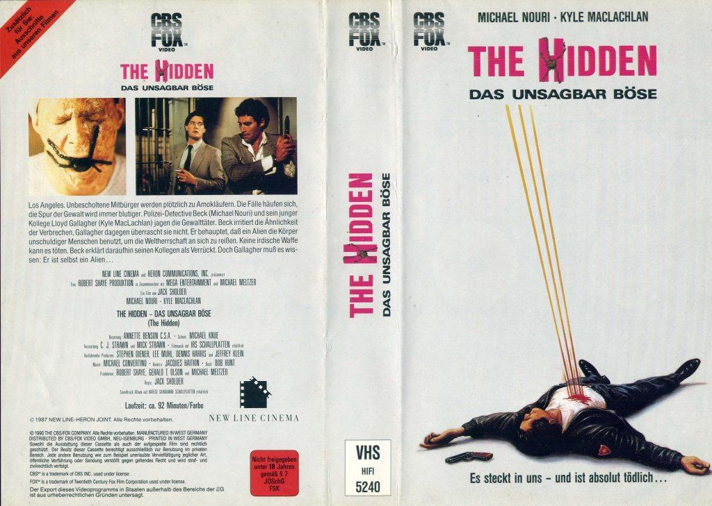 The Hidden (1987) german vhs