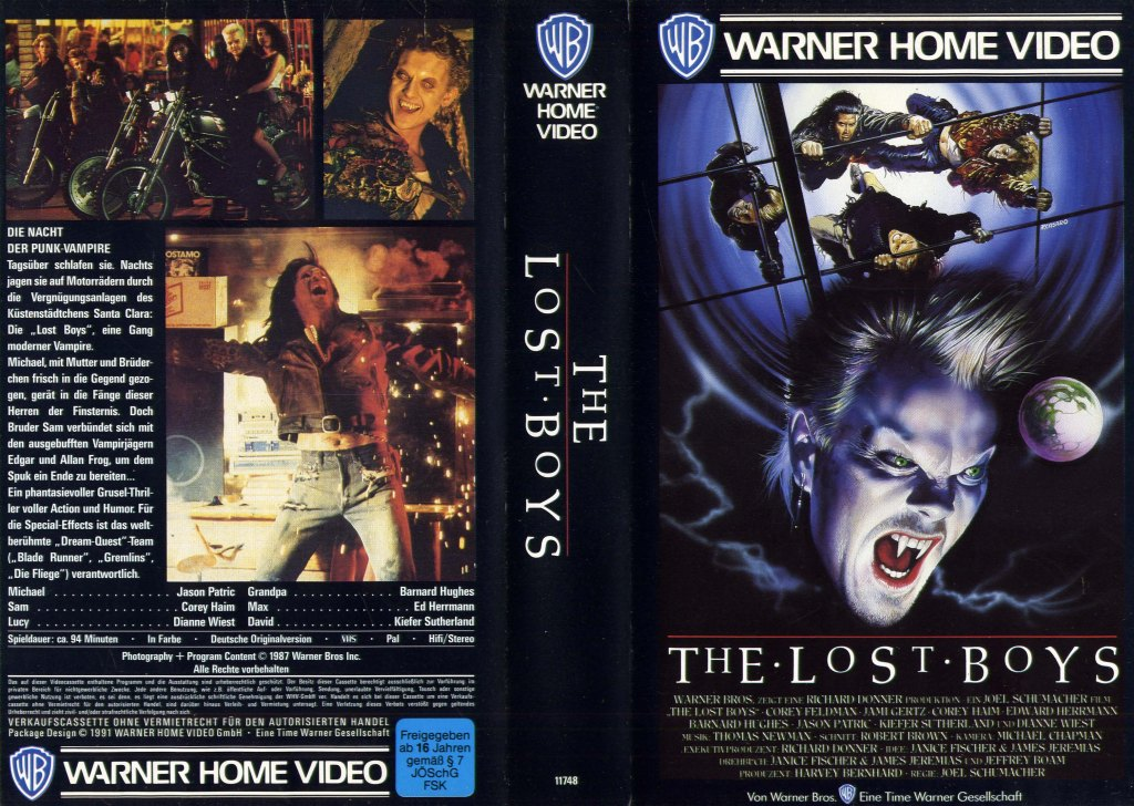 The Lost Boys (1987) german vhs cover by Renato Casaro