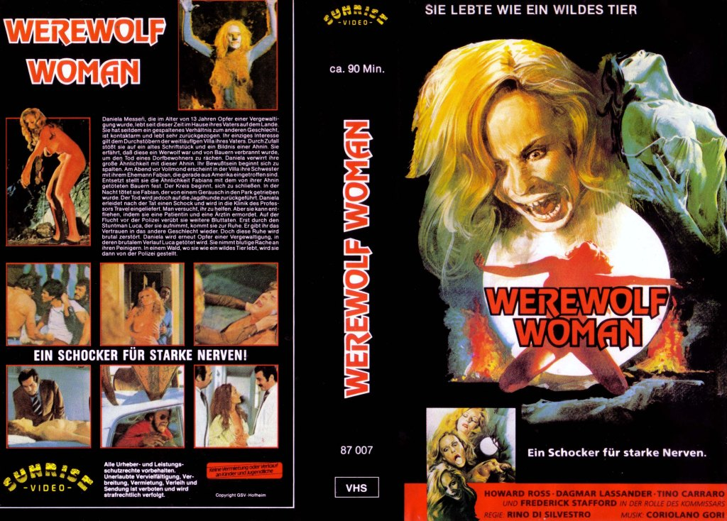 Werewolf Woman (1976) german vhs