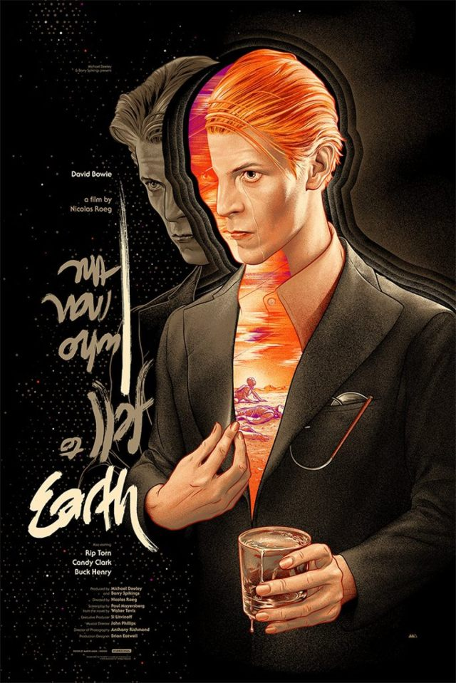 The Man Who Fell to Earth poster by Martin Ansin