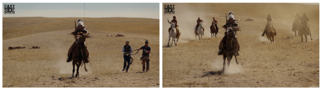 The Ballad of Buster Scruggs - before and after VFX