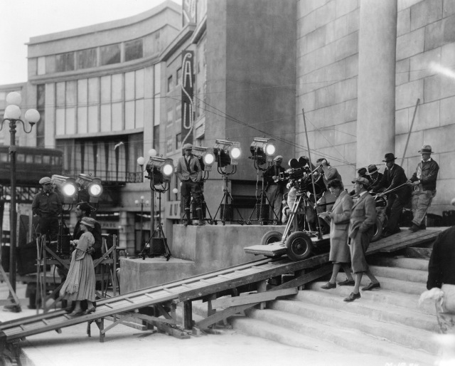 On the set of FW Murnau's Sunrise (1927)