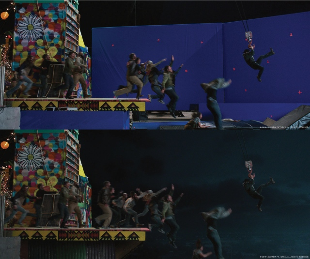 Zombieland 2 before and after VFX